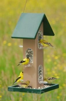 Songbird Essentials Tube Bird Feeder with Seed Tray 4 qt. (SERUBTF105)