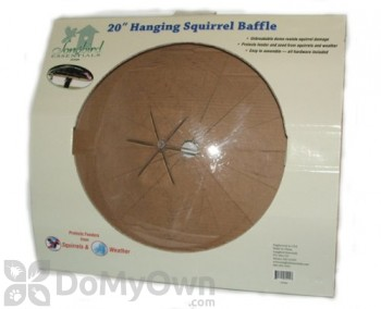 Songbird Essentials Hanging Squirrel Baffle For Bird Feeders 20 in. (SESQ84)