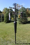 Squirrel Stopper Black Bird Feeder Post Assembly (SQC05)