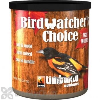 Timbuktu Outdoors Birdwatchers Choice Wax Worms Bird Food 2.4 oz. (TIM4054)