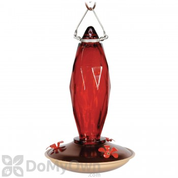 Woodlink Audubon Jewel Cut Glass Ruby Colored Hummingbird Feeder 10 oz (NAH8)