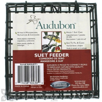 Woodlink Audubon Single Suet Cage Bird Feeder (NASUET1)