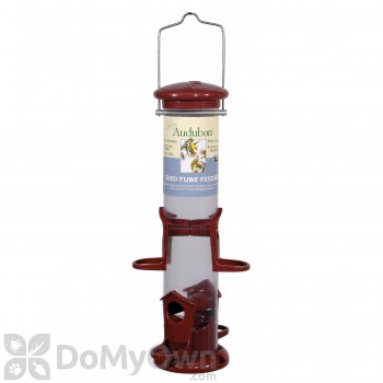 Woodlink Audubon 4 Port Apple Color Mixed Seed Tube Bird Feeder (NATUBE8)