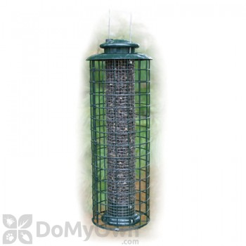 Woodlink Caged Screen Black Oil Sunflower or Peanut Tube Bird Feeder 1.25 lbs. (WLCMESH)