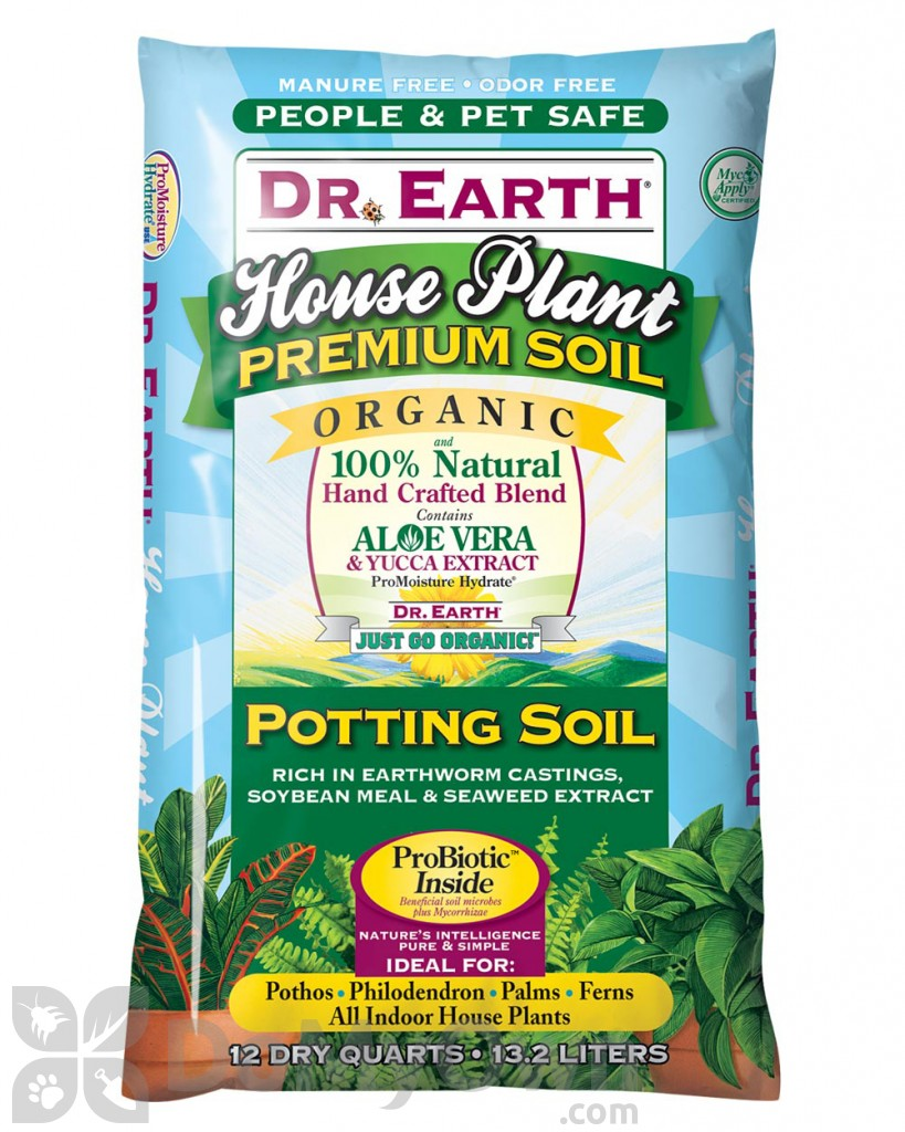 Dr earth house plant organic potting soil 12 qts for Organic soil