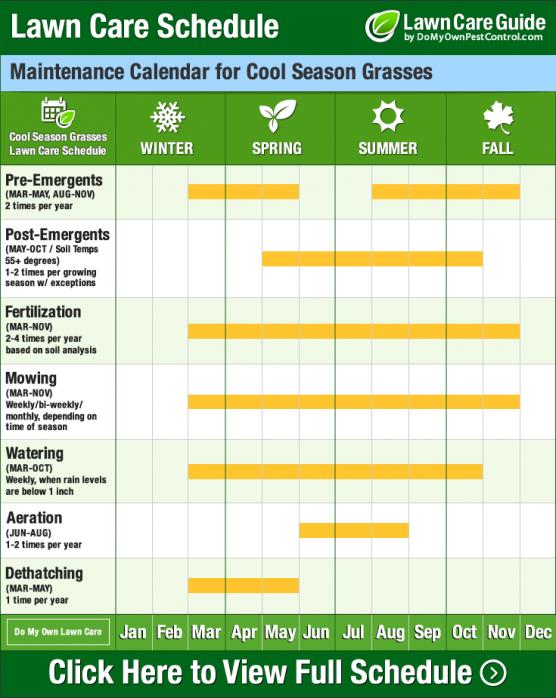 Image Result For Lawn Fertilizer Schedule