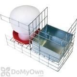 Bird Barrier Pigeon Trap Water and Feeder Kit (tt-sw50)