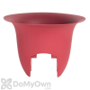 Bloem Modica Rail Planter 18 in. Union Red