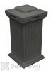 Savannah Column Storage and Waste Bin - Dark Granite