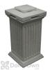 Savannah Column Storage and Waste Bin - Light Granite