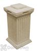 Savannah Column Storage and Waste Bin - Sandstone