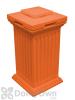 Savannah Column Storage and Waste Bin - Terra Cotta