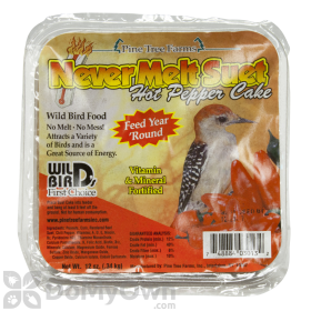 Pine Tree Farms Never Melt Suet Hot Pepper Cake Bird Food 12 oz. (3013)