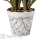 Bloem Eco Pot Planter Antique White with Black Whimsical Pattern