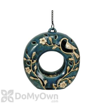 Coynes Company Hanging Sphere Blue / Ivory Bird Feeder (D2632)