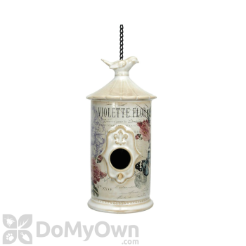 Coynes Company Modern Vintage Rose & Aqua Butterfly Bird House (MV1019)