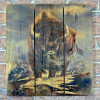 Gizaun Art Signature Series 1 American Buffalo Inside/Outside Full Color Cedar Wall Art (28