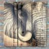 Gizaun Art Signature Series 1 African Elephant Inside/Outside Full Color Cedar Wall Art (28