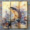 Gizaun Art Signature Series 1 Fish On Inside/Outside Full Color Cedar Wall Art (28 x 36