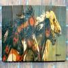 Gizaun Art Signature Series 1 Night Raid Inside/Outside Full Color Cedar Wall Art (60