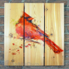 Gizaun Art Signature Series 1 Red Cardinal Inside/Outside Full Color Cedar Wall Art (28