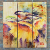 Gizaun Art Signature Series 1 Sunny Day Inside/Outside Full Color Cedar Wall Art