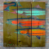 Gizaun Art Signature Series 1 School's In Inside/Outside Full Color Cedar Wall Art (28