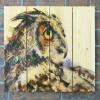 Gizaun Art Signature Series 1 Looking Back Inside/Outside Full Color Cedar Wall Art