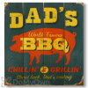 Wile E Wood Dads BBQ Wall Art