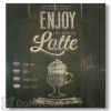 Wile E Wood Enjoy Latte Wall Art