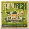 Wile E Wood Organic Farm Fresh Wall Art