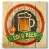Wile E Wood Cold Beer Wall Art