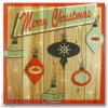 Wile E Wood Retro Merry Christmas Wall Art