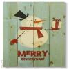 Wile E Wood Christmas Snowman Wall Art