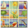 Wile E Wood Summer Squares Wall Art