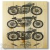 Wile E Wood Vintage Motorcycles Wall Art