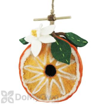 DZI Handmade Designs Orange Felt Bird House (DZI484023)