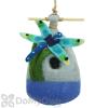 DZI Handmade Designs Big Dragonfly Felt Bird House (DZI484037)