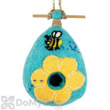 DZI Handmade Designs Flower Bee Felt Bird House (DZI484007)