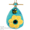 DZI Handmade Designs Flower Bee Felt Bird House (DZI484007)
