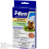 D-Worm Dog Dewormer Hookworms & Large Roundworms Chewable Tablets Large Dogs