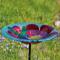 Evergreen Enterprises Hummingbird Harmony Glass Stake Bird Bath (2GB129)