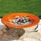 Evergreen Enterprises Metallic Swirl Glass Bird Bath (2GB216)