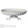 Farm Innovators Scalloped Bird Bath with Deck Mount Gray Stone (HBC120)