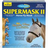 Farnam SuperMask II Horse Fly Mask Shimmer Weave - Silver/Black (Arabian)