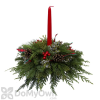 Fernhill Berries & Bows Centerpiece With Candle