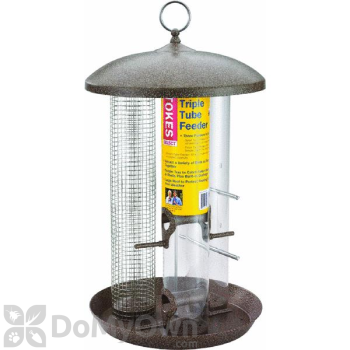 Hiatt Manufacturing Triple Tube Bird Feeder 1.4 lb. (38180)