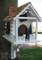 Home Bazaar Christmas Cabin Bird House (HB2098)