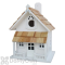 Home Bazaar White Country Cottage Bird House (HB7001W)