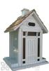 Home Bazaar White Bellport Cottage Bird Feeder (HB9033W)